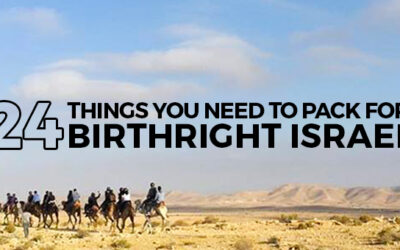 24 Things You Need To Pack For Birthright Israel